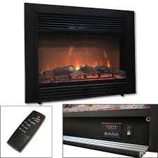 285quot electric fireplace embedded heater insert log flame