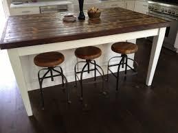 Rustic Kitchen Island Bar Agreeable Diy Ideas Custom Round Butcher