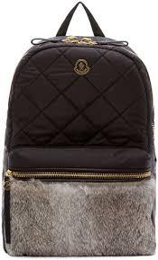 261 best BACKPACKS images on Pinterest   Backpacks, Accessories ... & Moncler: Black Quilted Fur Gigi Zano Backpack   SSENSE Adamdwight.com