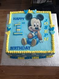 Mickey Mouse 1st Birthday Cake Birthday Party Time Mickey First