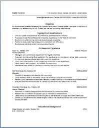 Bullet Point Resume Template | ... of the most important tips for writing  chemist