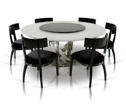 image of contemporary round dining table for 6