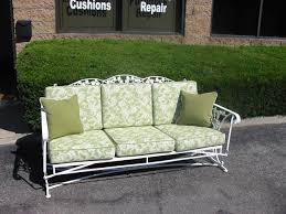 antique wrought iron sofa glider with
