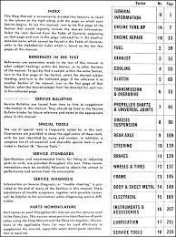 1951 1953 kaiser frazer henry j repair shop manual original henry j shop manual original · table of contents