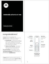 Motorola Adventure V750 Getting Started ...