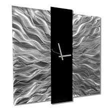 decor alarm art wall clocks sophisticated etched silver and black contemporary clock ideas modern functional hand made timepiece