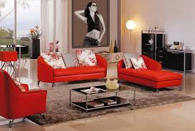 living room furniture color schemes. Cozy Living Room Colour Schemes With Modern Red Sofa And Chrome Lamp Stand Furniture Color L