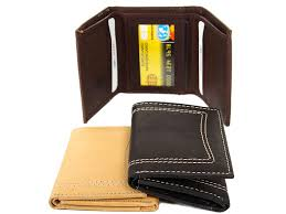 Tri Fold Window Mens Leather Trifold Double Bill 6 Credit Card 1 Id Window Stitch Design In Black 4 X 3 25 Inches Bb 2456 Leather Wallet