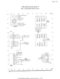 1987 daytona shelby z fuse diagram turbo dodge forums turbo here is all the wiring for your vehicle