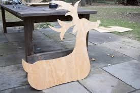 free plans for building your own plywood deer or reindeer