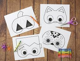 More seasons and celebrations coloring pages. Halloween Masks To Print And Color It S Always Autumn