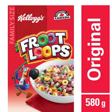 kellogg s froot loops cereal 580g family size