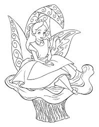 Alice In Wonderland Vind En Print Bliksemsnel Een Kleurplaat Ukkonl