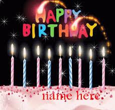 Print Name On Happy Birthday Cake Gif Gifaya