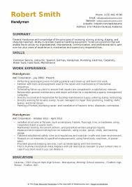 Increase your chances of finding a job and create your cv with one of our professionally designed cv templates. Handyman Resume Samples Qwikresume