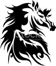 Koně Tetování Stock Photos Vectorhqcom