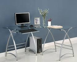tempered glass office desk. Tempered Glass Office Desk Back To L Shaped Furniture
