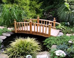 ornamental wooden garden bridges building a landscape bridge backyard bridge over creek