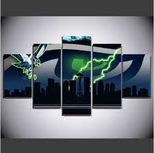 5 panels seattle seahawks canvas prints