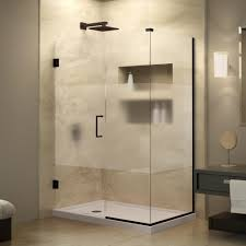 best design idea 2017 shower doors frosted glass for bathroom with a black drawer and hood lamp