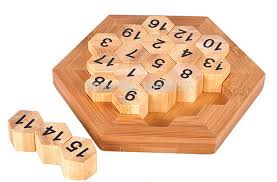 Classic Wooden Board Games Classic Brain Teaser Wooden Hexagon Digital Puzzle Sum Equal to 100 14