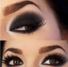 smokey eyes via black and white brown