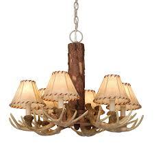 cascadia lighting lodge 22 in 6 light noachian stone rustic shaded chandelier