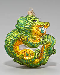 Dragon Ornament Asian holiday decorations for the tree ...
