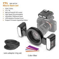 <b>Meike MK MT24S Macro Twin</b> Lite Flash TTL Speedlite for Nikon ...