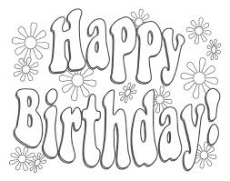 Coloring Pages Happy Birthday Coloring Pages For Kids Free Happy