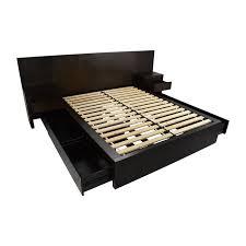 queen platform bed with storage. West Elm Queen Size Storage Platform Bed Frame Second Hand With