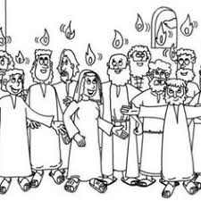 Small Picture Pentecost The Holy Spirit Upon The Apostles In Pentecost Coloring