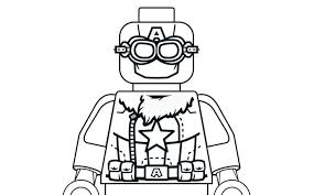 Pilot Captain America Coloring Pages Lego Marvel Super Heroes