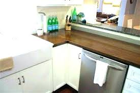 dark butcher block countertops sealing with oil a food safe