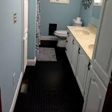 image of rubber roll flooring black