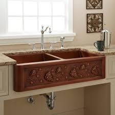 Copper Kitchen Sink Faucet Kitchen Beautiful Copper Kitchen Sink Undermount With Brown