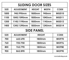 closet door sizes standard