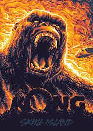 Kong: Skull Island <b>Poster</b> - Created by Aleksey Rico   <b>King</b> kong art ...