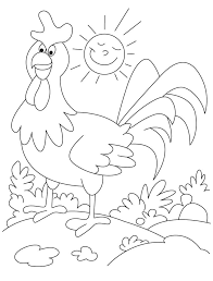 Small Picture Funny rooster farm animal coloring pages Download Free Funny