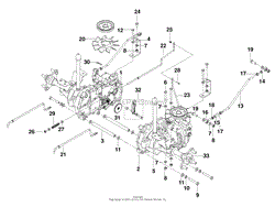 husqvarna rz5424 965881301 2010 01 parts diagrams hydralic pump motor