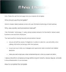 Business Brief Example Marketing Policy Template Security For Small Business Brief Word