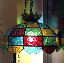 hanging stained glass stained glass hanging chandelier lamp old stained glass hanging light fixtures