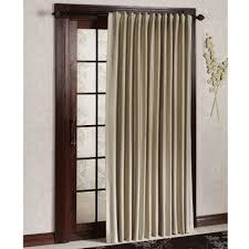 light gray linen single panel curtain for sliding glass door