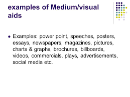 media analysis questions what is media media is the use of  3 examples of medium visual aids examples power point speeches posters essays newspapers magazines pictures charts graphs brochures billboards