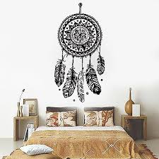 112x 56cm dreamcatcher wall sticker vinyl home decor decals feathers night symbol indian stickers bedroom livingroom art d 698 childrens wall art stickers