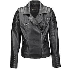 vegetable tanned leather biker jacket black eleonare