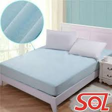 sol home ed cover cotton terry waterproof bedsheet mattress protector machine washable