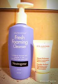 beauty crashingred neutrogena fresh foaming cleanser and makeup remover clarins gentle refiner