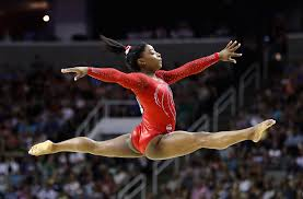 floor gymnastics olympics. SAN JOSE, CA - JULY 10: Simone Biles Competes In The Floor Exercise During Gymnastics Olympics N