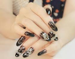 Decorative Nail Art Designs Top 100 Most Attractive Rhinestone Nail Art Designs BestStylo 31